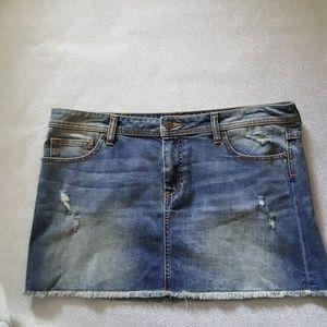 Victoria's secret denim mini skirt size 14
